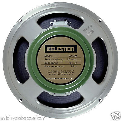 "Celestion G12M Greenback 12"" Guitar Speaker - 16 ohm 25 Watts - FREE SHIPPING!"