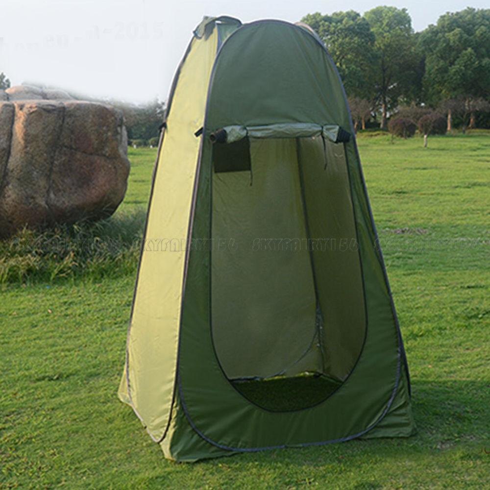 portable changing pop up toilet tent beach shower privacy shelter dressing room ebay. Black Bedroom Furniture Sets. Home Design Ideas