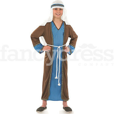 Boys Deluxe Joseph Shepherd Nativity Costume Christmas Fancy Dress Kids 8 10 12