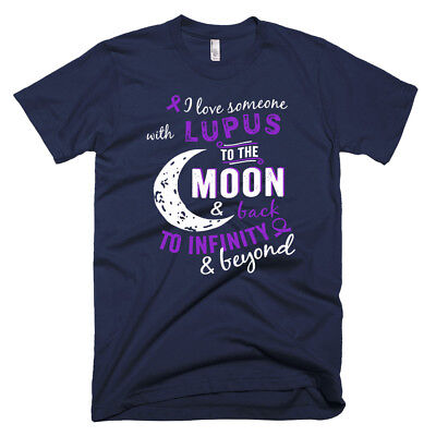 I Love Someone With Lupus Awareness Overcome Disease Tee  Mens T Shirts
