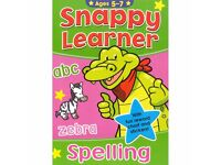 Snappy Learner Spelling - Educational School Book with Reward Chart for Ages 5-7