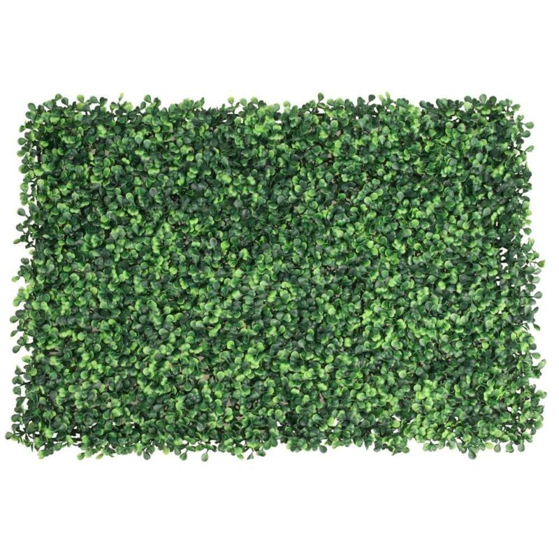 Artificial Boxwood Mat Wall Hedge Decor Privacy Fence Panel Grass 12pcs/24pcs