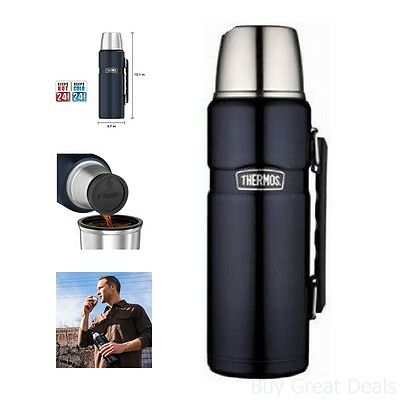 Thermos Stainless Sovereign Bottle 40-OZ Beverage Coffee Tumbler Jar Travel Hot Cold
