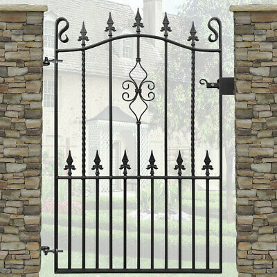 Spear Garden Gate Wrought Iron Metal Steel Gates | 3ft Opening | 4ft High