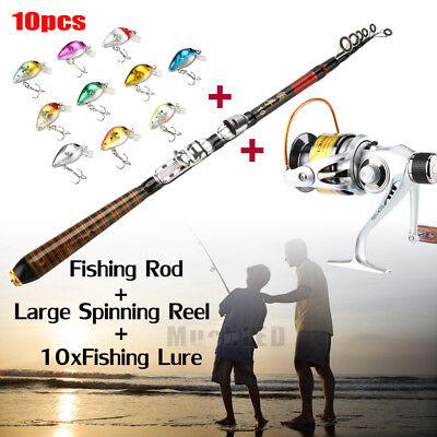 Surf Rods Reels - Large Spinning Reel Baitfeeder Fishing Surf Jigging 7000+Telescopic Fishing Rod