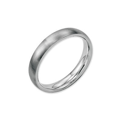 Stainless Steel 3mm Wedding Band Half Round Comfort-Fit Brushed Ring Size 4 - 12 3mm Half Round Wedding Band