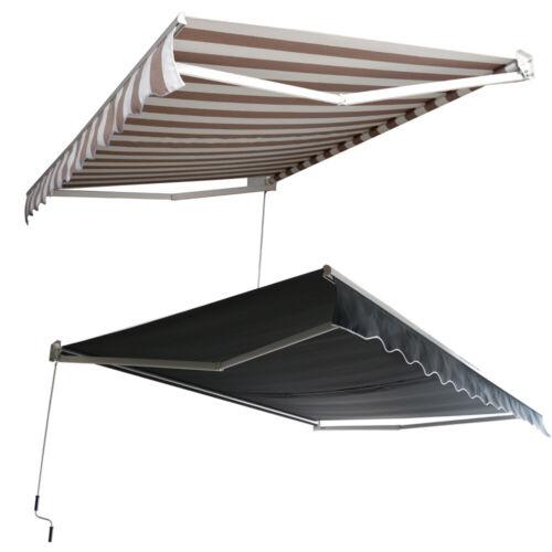 Aluminium Markisen Sonnenschutz mit Gelenkarmmarkise Terrasse Balkon 2 Farbe