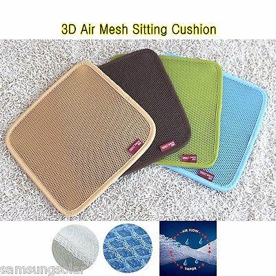 3D Air Mesh Fabric sitting cushion Cooling sitting Mat /Car Chair Seat Cover mat