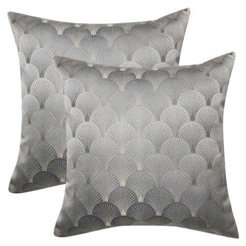 1/2 Luxury Reversible Jacquard Throw Pillow Covers Sofa Pill