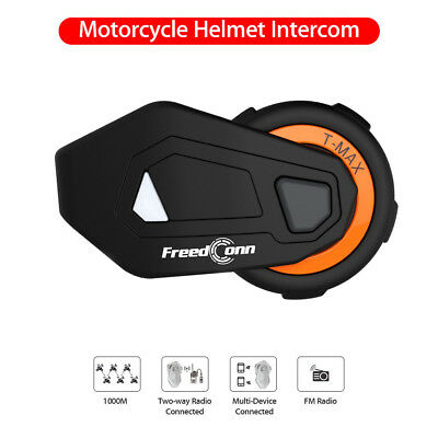 FreedConn T-MAX 2.4GHz Motorcycle Rider Helmet Headset Bluetooth Intercom 1000M