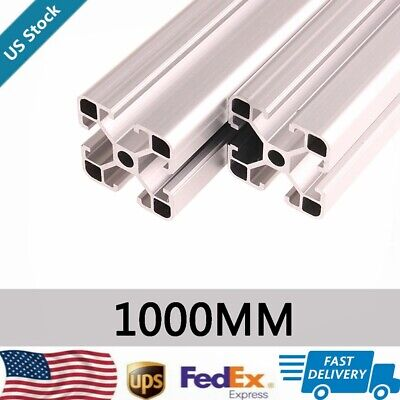 2pcs 4040 T-slot Aluminum Extrusion Profile 1000mm Cnc 3d Printer 20mm X 40mm