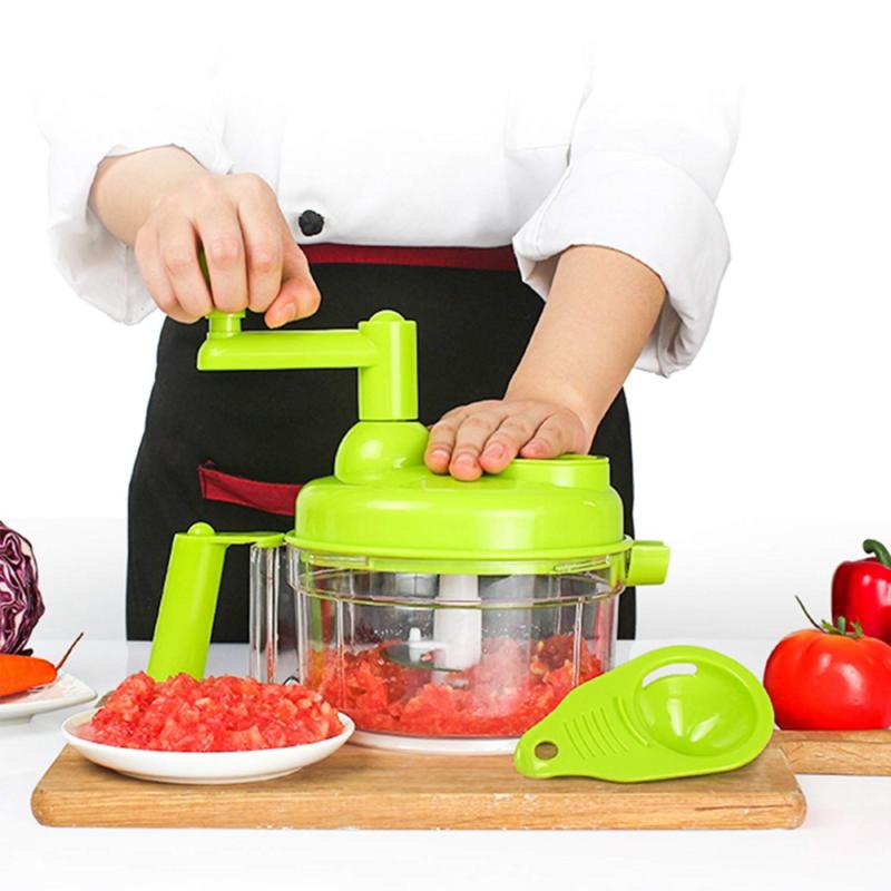 Multi-function Food Processor Manual Meat Machine Chopper Salad Crusher SKN