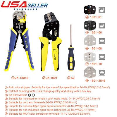 Paron Ratchet Crimper Plier Crimping Tool Cable Wire Electrical Terminals G2m6