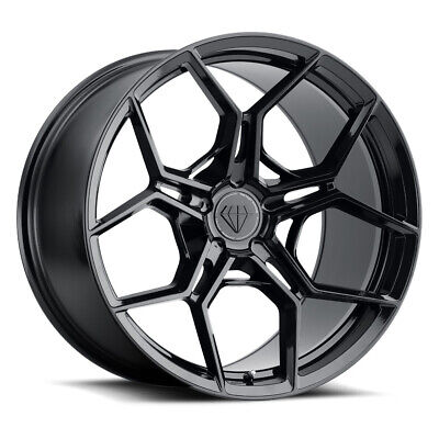 "20"" Blaque Diamond BD-F25 Black 20x9 20x10 Wheels Rims Fits BMW E60 5 Series"