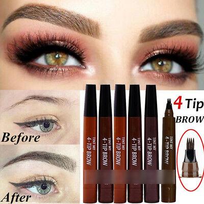 - New Micro-engraved Four-pronged Eyebrow Pencil Anti-sweat Waterproof Makeup Tool