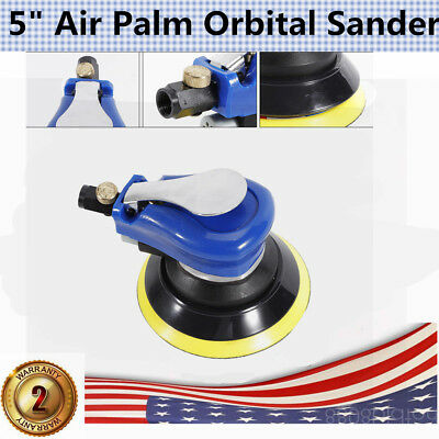 "NEW 5"" Air Palm Orbital Sander Random Hand Sanding Pneumatic Round USA SHIPPING"