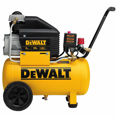 Dewalt 6 Gallon Wheeled Horizontal Air Compressor D55166 Refurbished