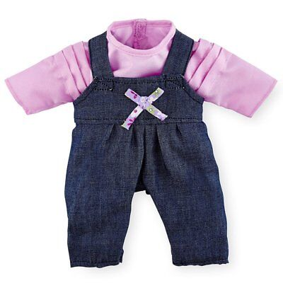 - You & Me Playtime Outfit for 12-14 inch Doll - Long Sleeve Pink Shirt with Denim