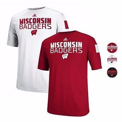 Climalite Performance T-shirt (Wisconsin Badgers ADIDAS Climalite Sideline Performance T Shirt Collection Men's)
