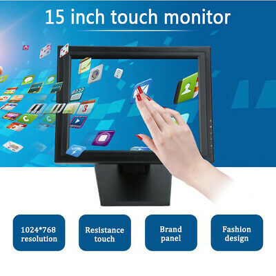 15 Inch LCD Touchscreen VGA POS Touch Screen Monitor Restaurant Retail Bars (Best Touch Screen Monitor)