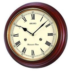 Seiko Wooden Wall Clock QXH202B NEW