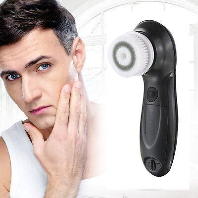Men Facial Cleansing Brush Waterproof 2 Speed Face Cleanser Exfoliators Scrubber