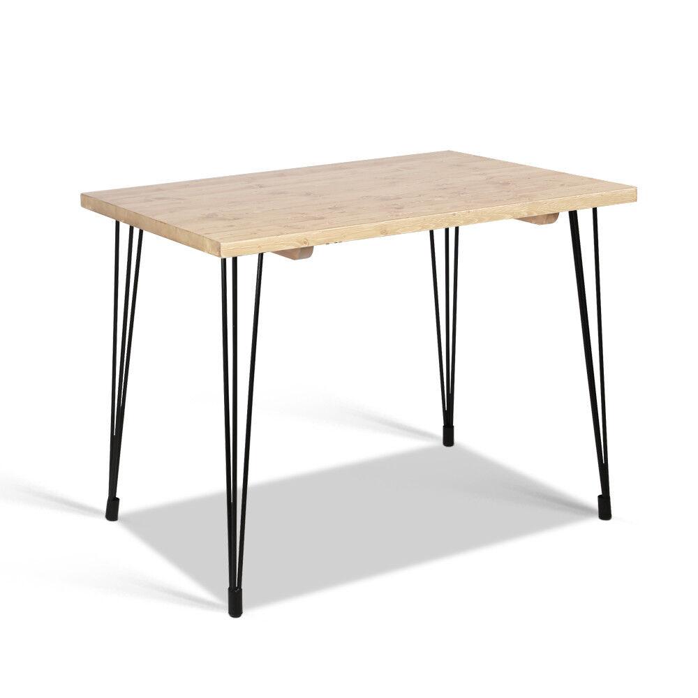 artiss 4 seater dining table wood industrial scandinavian timber rh ebay com au