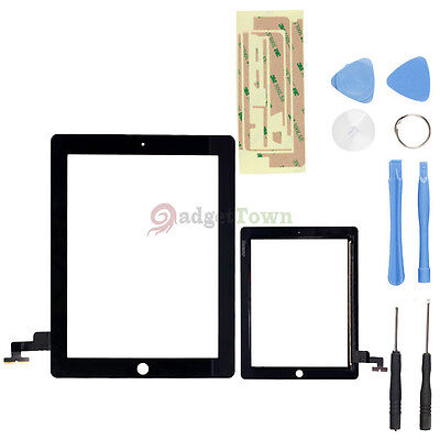 Touch Screen Glass Digitizer Replacement+ Adhesive Glue Tape 3M for Apple iPad 2 on Rummage