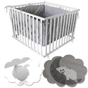 Baby Laufgitter 100x100cm Krabbelgitter Laufstall höhenverstellbar Einlage 4-eck