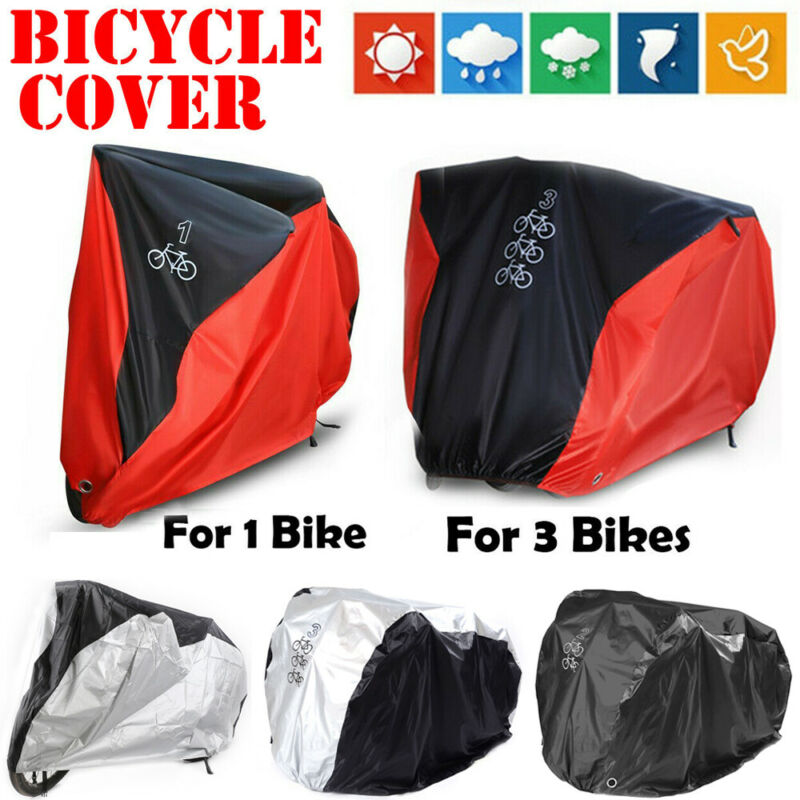 Single/Double/Triple Bicycle Cover Bike Cycle Waterproof Outdoor Dust Protector