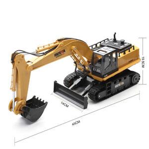 11 Ch RC Remote Control Metal Construction Excavator Truck JCB Digger Bulldozer