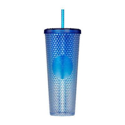 Starbucks Korea Shine Blue Bling Stud Cold Cup 710ml 2021 Summer 3 Limited