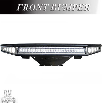 FIT 2009-2014 FORD F-150 OFF ROAD FRONT BUMPER WITH LIGHT BARS HOLES PRIMED