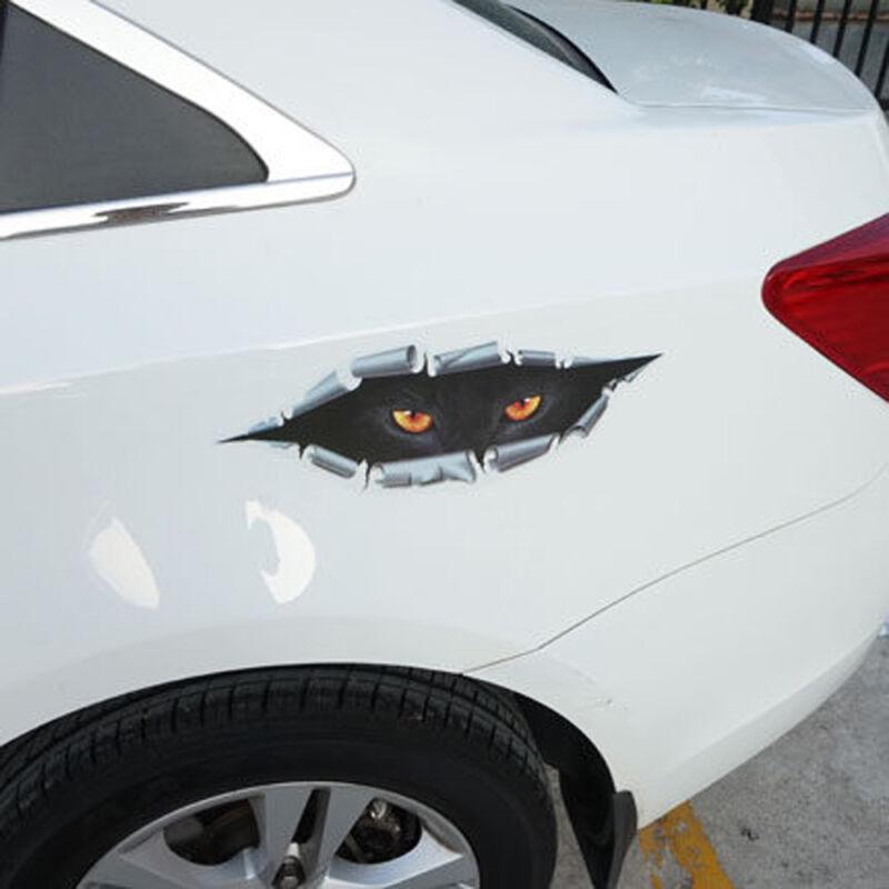 Black 3D PEEKING Funny Car Van Bumper Window Vinyl Sticker Decal Accessories