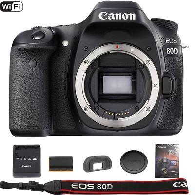 Canon EOS 80D DSLR Camera (Essentials) Brand New