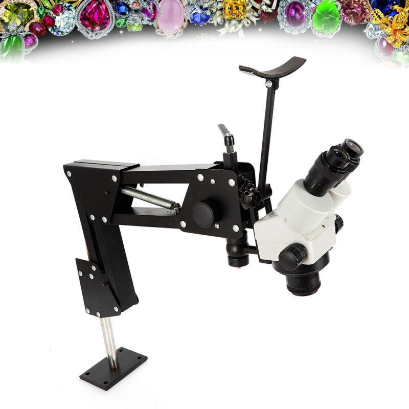 Spring Stand Jewelry Microscope Inlaid Tool Multi-Directional f/ Micro Mirror US