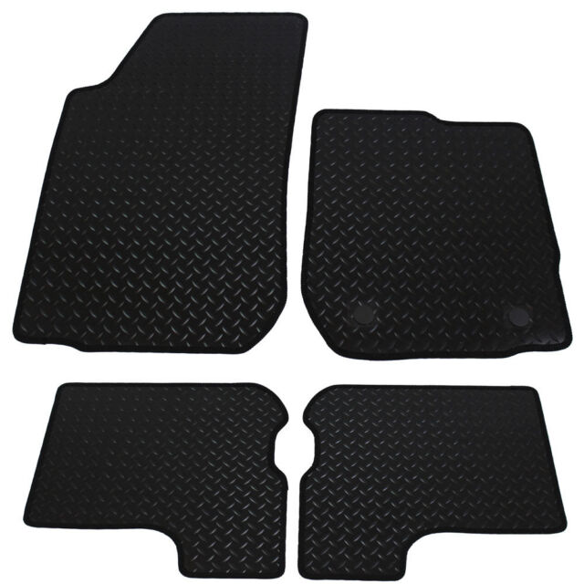 Dacia Sandero 2013+ Fully Tailored 4 Piece Rubber Car Mat Set with 2 Clips