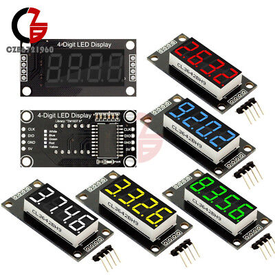 0.36 7 Segment Display Tube 4-bit Led Tm1637 Module Redgreenblueyellowwhite