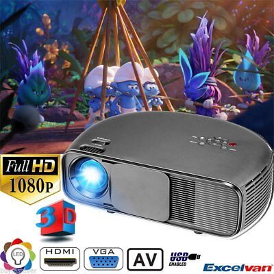 CL760 2000:1 3D FHD 1080P Projector LED Multimedia Home Cinema USB VGA HDMI BE