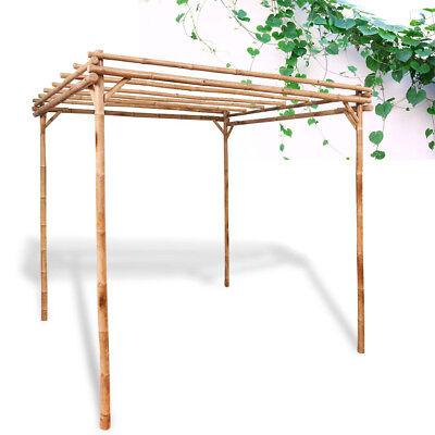 Garden Bamboo Pergola Gazebo Patio Sun Shade Arbour Arch Patio 195x195x195 cm