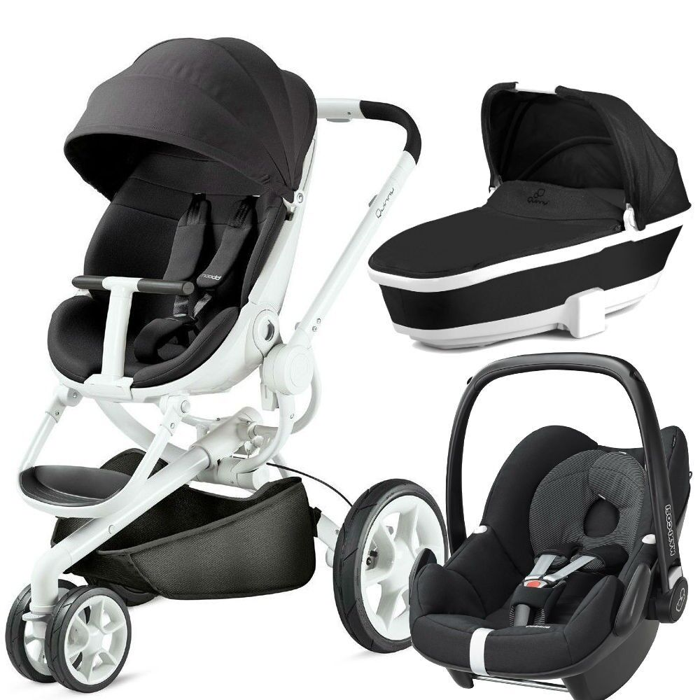 quinny moodd pushchair in black irony 2015 maxi cosi pebble origami black with carrycot brand
