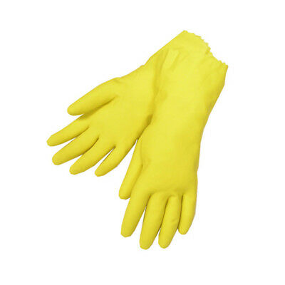 Yellow Latex Household Cleaning Dishwashing Gloves – 1 Pair (2 Gloves) - Large