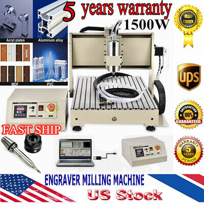 3 Axis Cnc Router Engraver Usb 6040t 1.5kw Vfd Engraving Milling Carving Machine