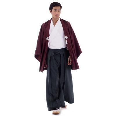 Japan Samurai Kimono Cosplay Kostüm Set Kendo Gi + Hakama Hose + Haori (Samurai Kimono Kostüme)