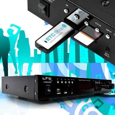 Pa Karaoke Música Sistema Planta Bluetooth Amplificador MP3 USB SD 2x50 W...