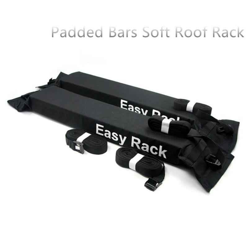 Universal Padded Bars Soft Car Roof Rack kayak surfboard Luggage Carrier