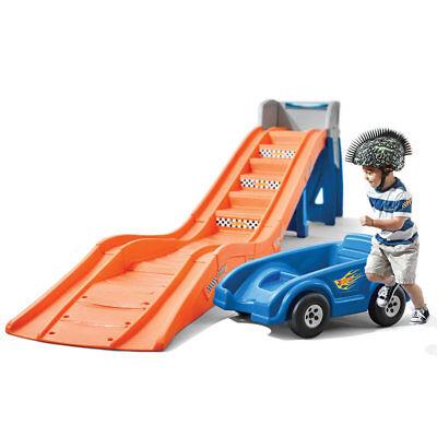 Step2 Hot Wheels Extreme Thrill Coaster Backyard Slide Ride Climb Push Car