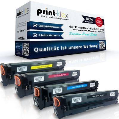4x XL Toner für HP Color-LaserJet-Pro MFP M180n M181fw Black Cyan Magenta Yellow (Hp Color Laserjet Black Toner)