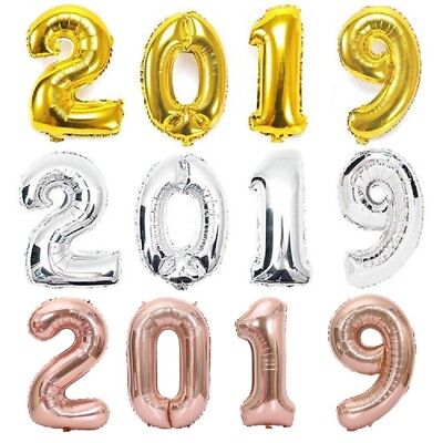 40inch 2019 Number Balloons new year balloon Wedding graduation party Decor #DJ8 - New Years Balloons