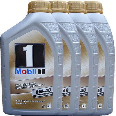 4X1 Liter Mobil 1 FS 0W-40 Motoröl 0W40 MERCEDES 229.5 229.3 VW PORSCHE A40 NEU